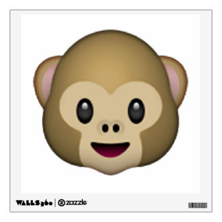 Monkey - Emoji Wall Decal