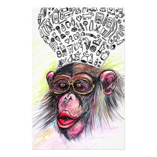 Monkey explosion. Woman Customized Stationery