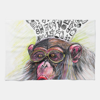 Monkey explosion. Woman Kitchen Towel