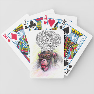 Monkey explosion. Woman Poker Deck