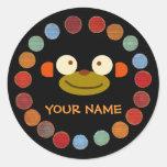 Monkey Face Back To School Sticker!