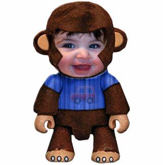 Monkey Face - Boy Standing Photo Sculpture
