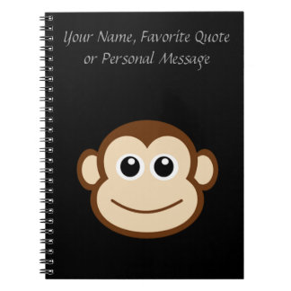 Monkey Face Cartoon Notebooks