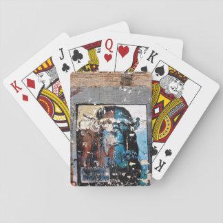 Monkey Face graffiti Classic Playing Cards