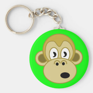 Monkey Face Keychain - Green