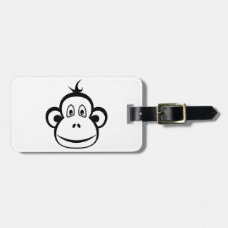 Monkey Face Luggage Tag