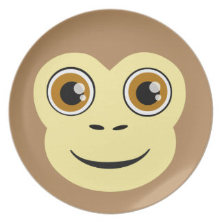 Monkey Face Party Plate