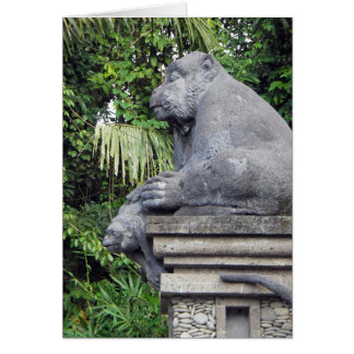 Monkey Forest Gate Greeting Card