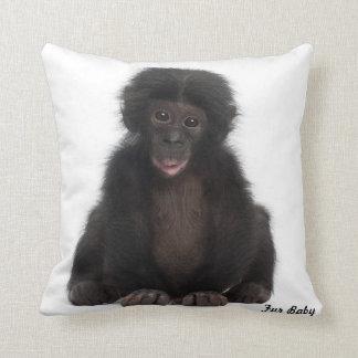 Monkey Fur Baby Design Grade A Cotton Throw Pillow