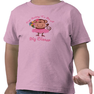 Monkey Future Big Sister Tshirts