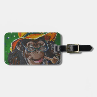 Monkey -Gentleman Luggage Tag