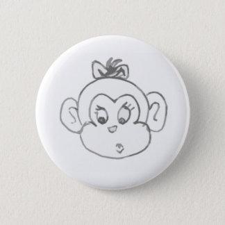 Monkey Girl 2 Inch Round Button