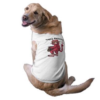 Monkey Gnome - Little Devil Happy Barkoween! Doggie T-shirt