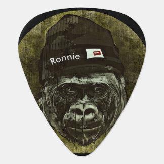 Monkey Gorilla Hat Cool Name Guitar Pick Monogram