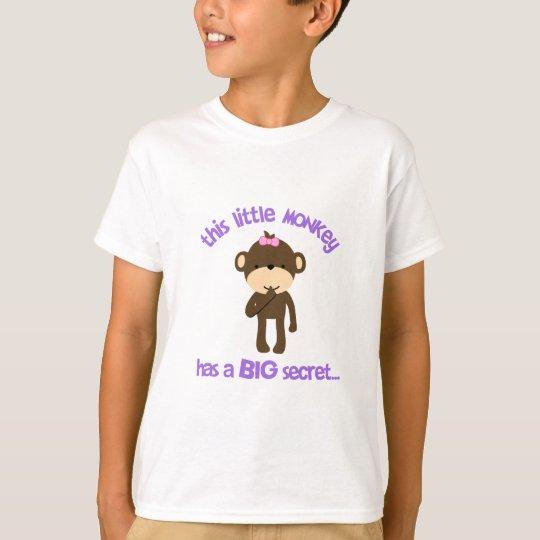 Monkey Has A Secret Big Sister T-Shirt