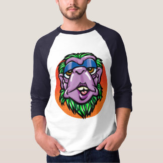 Monkey head by Dave Weiss American Pop T-Shirt