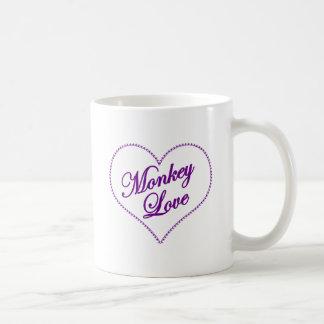 Monkey Heart - Monkey Love Classic White Coffee Mug