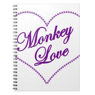 Monkey Heart - Monkey Love Spiral Notebook