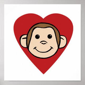 Monkey Heart Poster