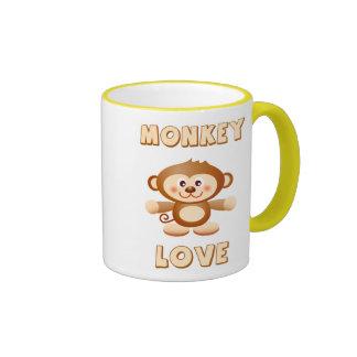 Monkey Hugs & Love Ringer Mug