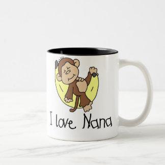 Monkey I Love Nana Mugs