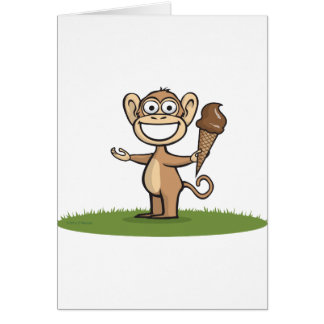 Monkey Ice Cream Card