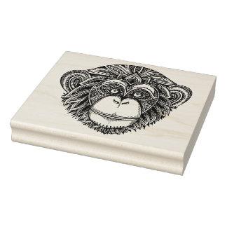 Monkey Illustartion Doodle Rubber Stamp