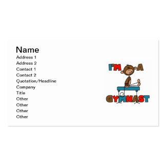 Monkey I'm a Gymnast Business Card Templates