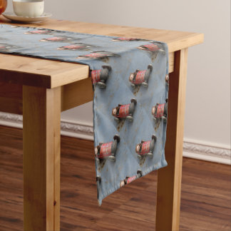 Monkey in a toy car short table runner