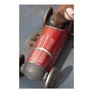Monkey in a toy car stationery