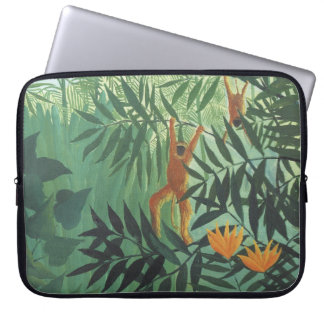 "Monkey in Jungle by Henri Rousseau 15"" Laptop Slee Laptop Sleeve"