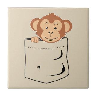 Monkey in pocket ceramic tile