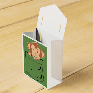 Monkey in pocket favor box