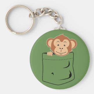 Monkey in pocket keychain