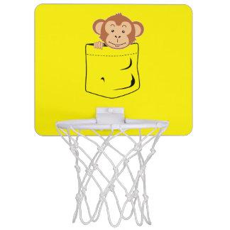 Monkey in pocket mini basketball backboard
