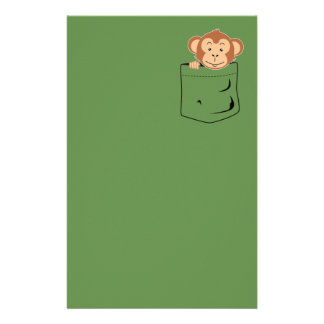 Monkey in pocket stationery design