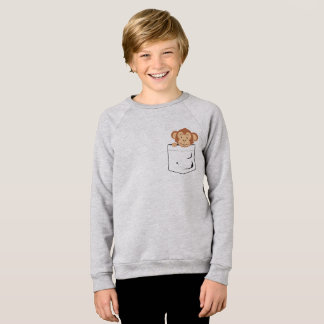 Monkey in pocket sweatshirt