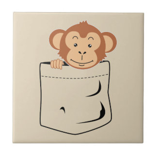 Monkey in pocket tile