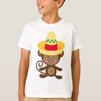 Monkey In Sombrero Gift T-Shirt