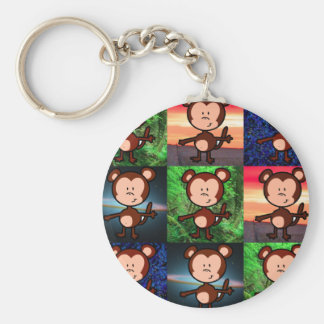 Monkey in the Middle Apps 3x3 keychain