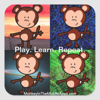 Monkey in the Middle Apps stickers