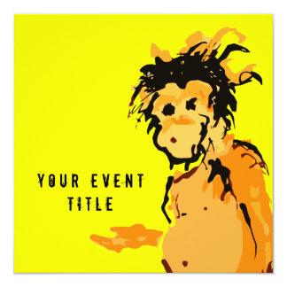 monkey ink 5.25x5.25 square paper invitation card