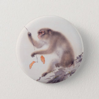 Monkey Japanese Painting - Year of the Monkey 2 Inch Round Button