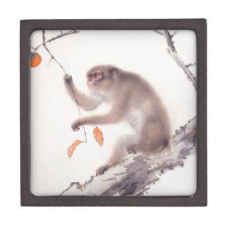 Monkey Japanese Painting - Year of the Monkey Premium Jewelry Box