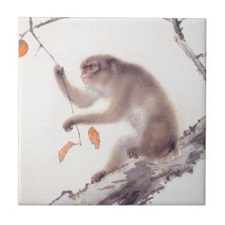 Monkey Japanese Painting Year of the Monkey Tile