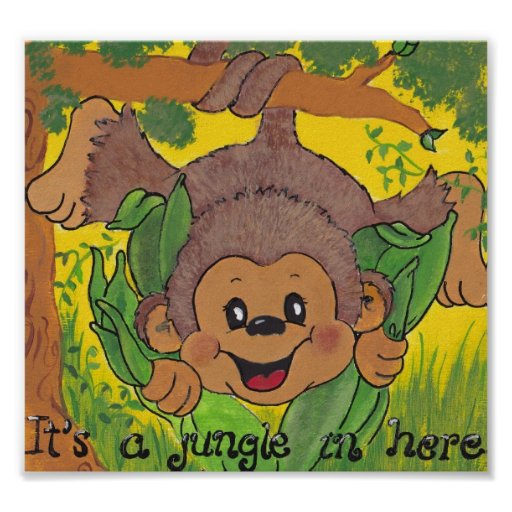 Monkey Jungle Its a jungle in here Poster