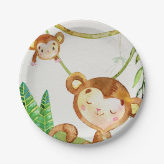 Monkey Jungle Party 7 Inch Paper Plate