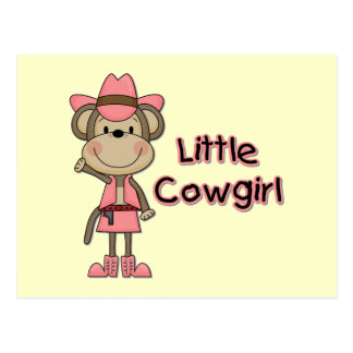 Monkey Little Cowgirl Tshirts and Gifts Post Card