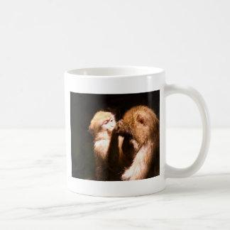 monkey love and kiss mother classic white coffee mug