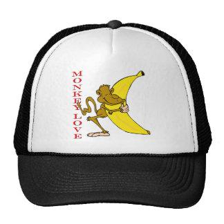 Monkey Love Fling Poo Funny Mesh Hats